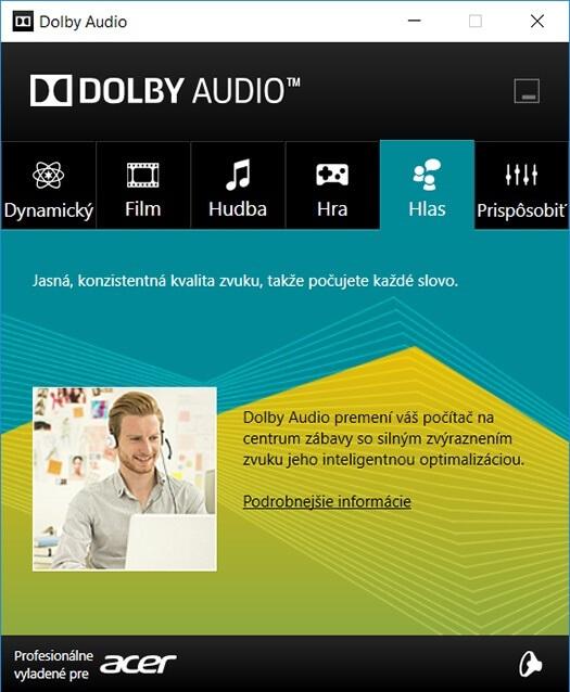 Acer Nitro 5 – Dolby Audio