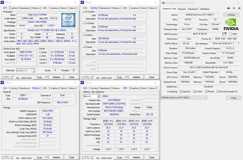 Acer Nitro 5 - Hardware