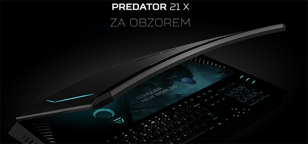 Notebook Acer Predator 21 X, herní monstrum se zahnutým displejem