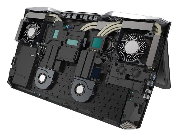 Acer Predator 21 X, chlazení CoolBoost