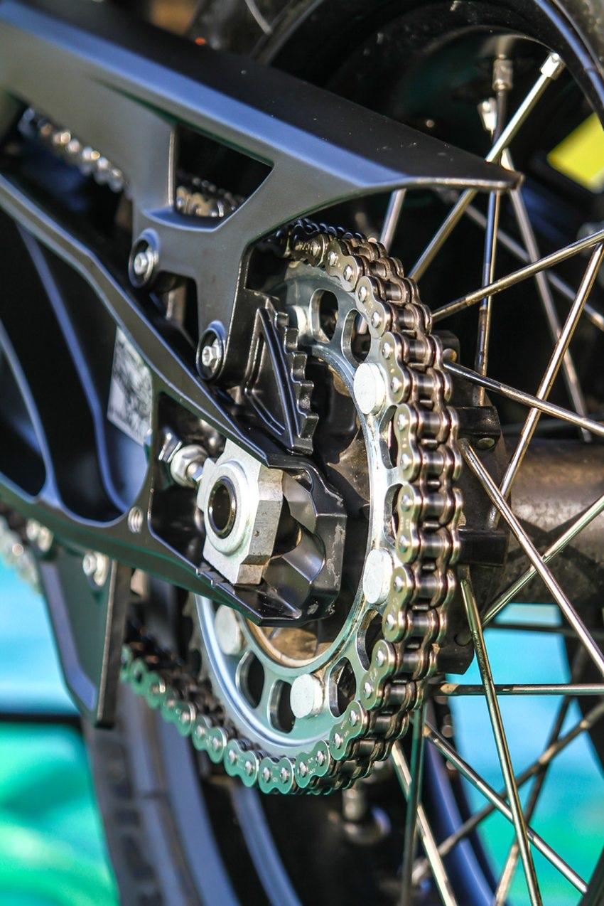 ACF-50 a Corrosion Block; nová motorka po použití, řetěz