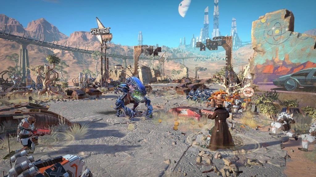Age of Wonders: Planetfall; screenshot: bitva