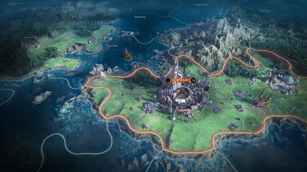 Age of Wonders: Planetfall; screenshot: kolonie