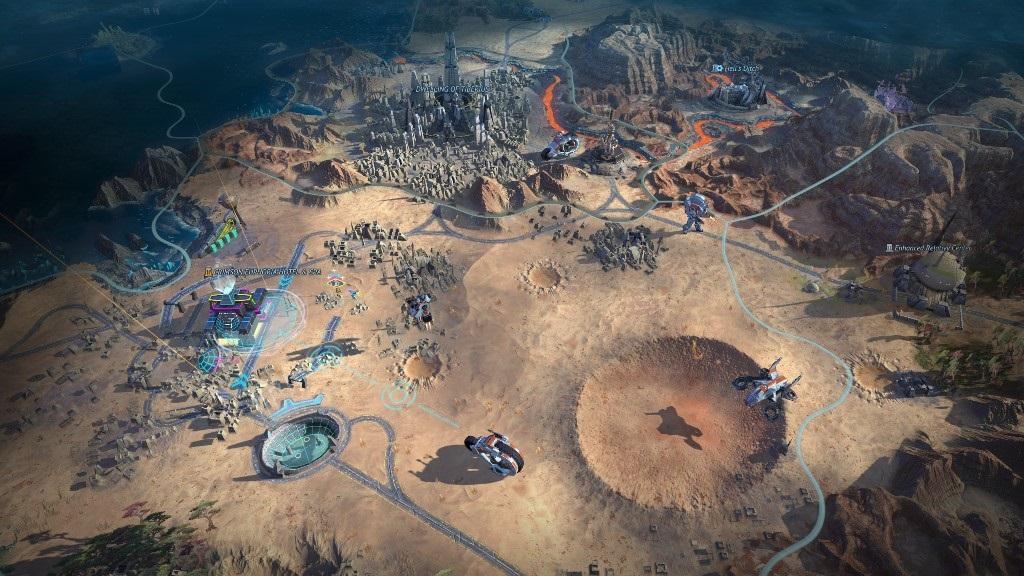 Age of Wonders: Planetfall; screenshot: továrna