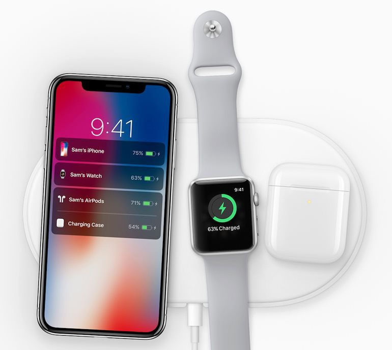 iPhone X; bezdrátové nabíjení