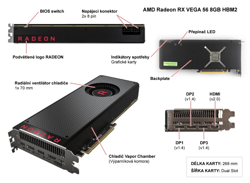 AMD Radeon RX Vega 56 8GB popis