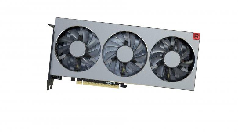AMD Radeon VII, boční pohled