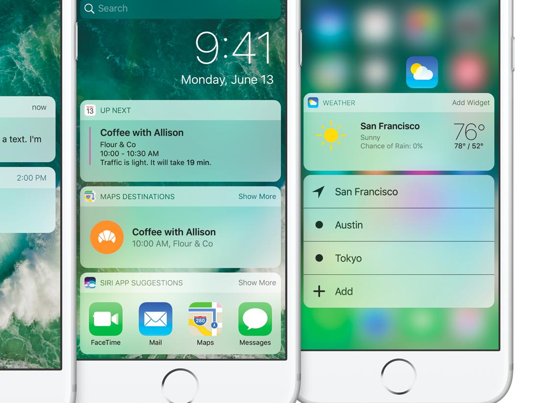 iOS 10 - widgety