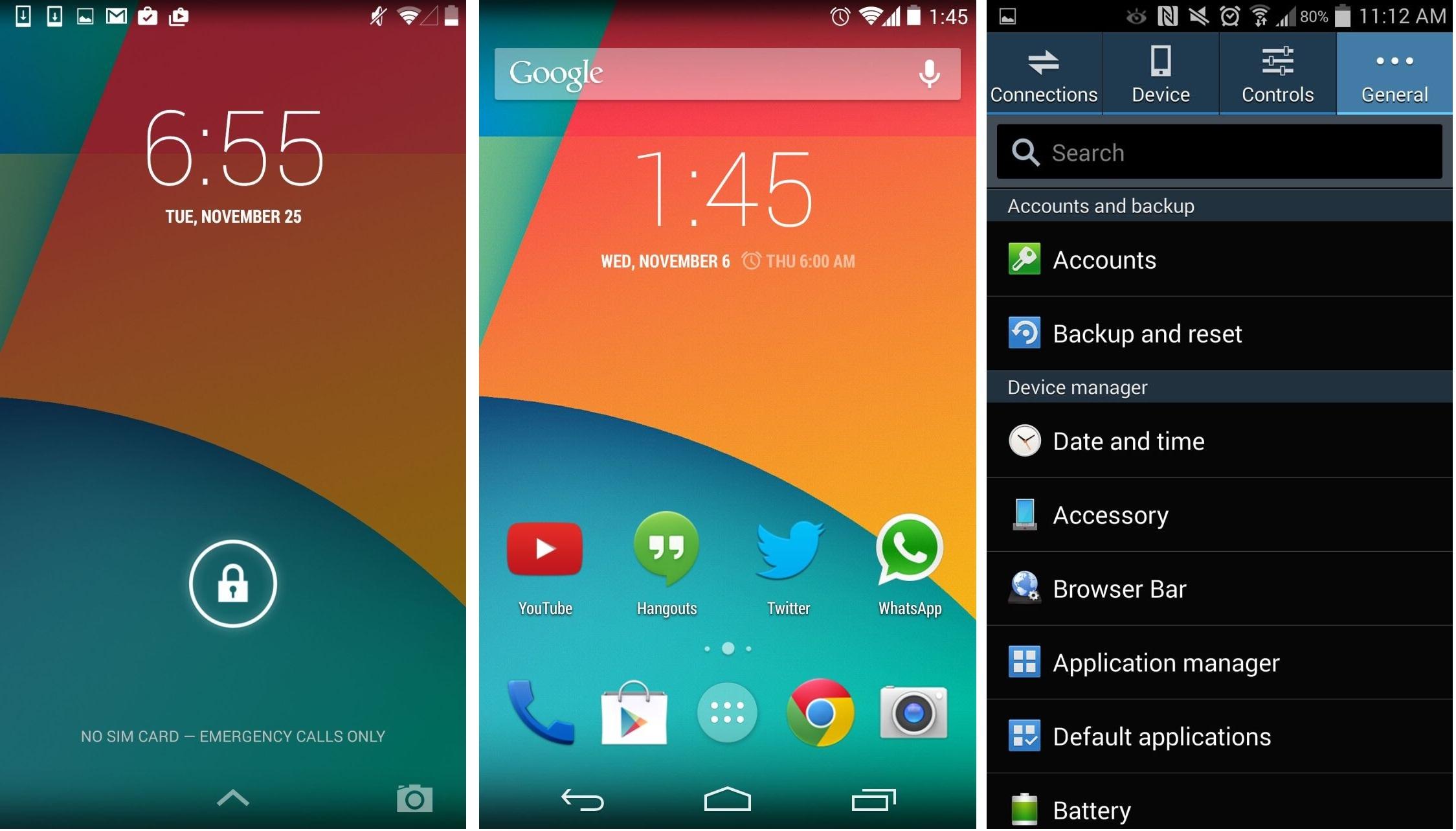 Grafické rozhraní OS Android