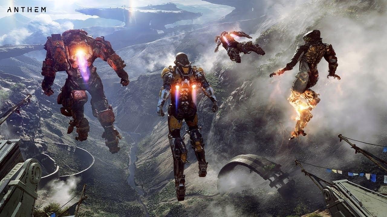 Anthem; wallpaper: exoskeletony Javelin