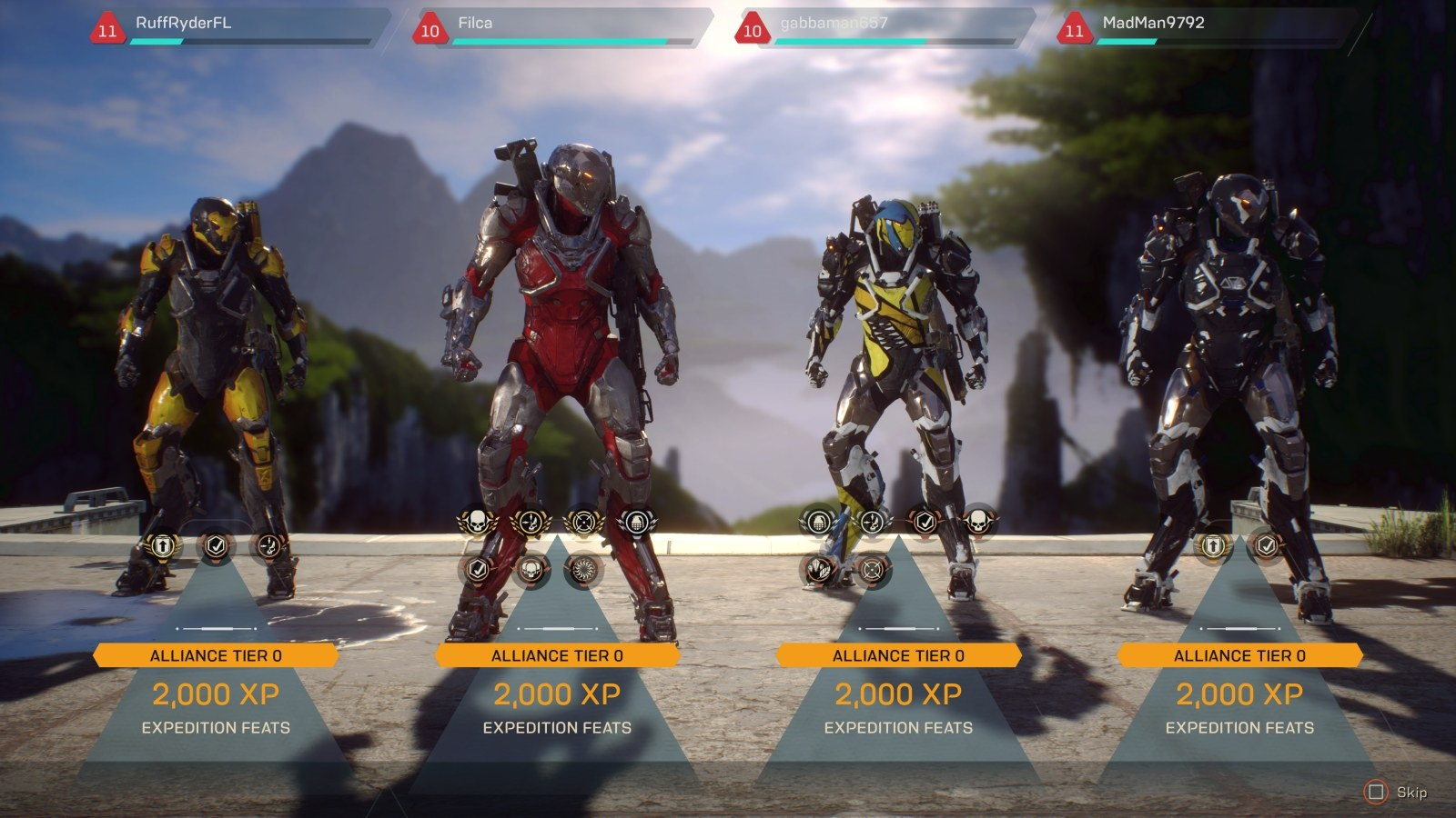 Anthem; gameplay: konec mise