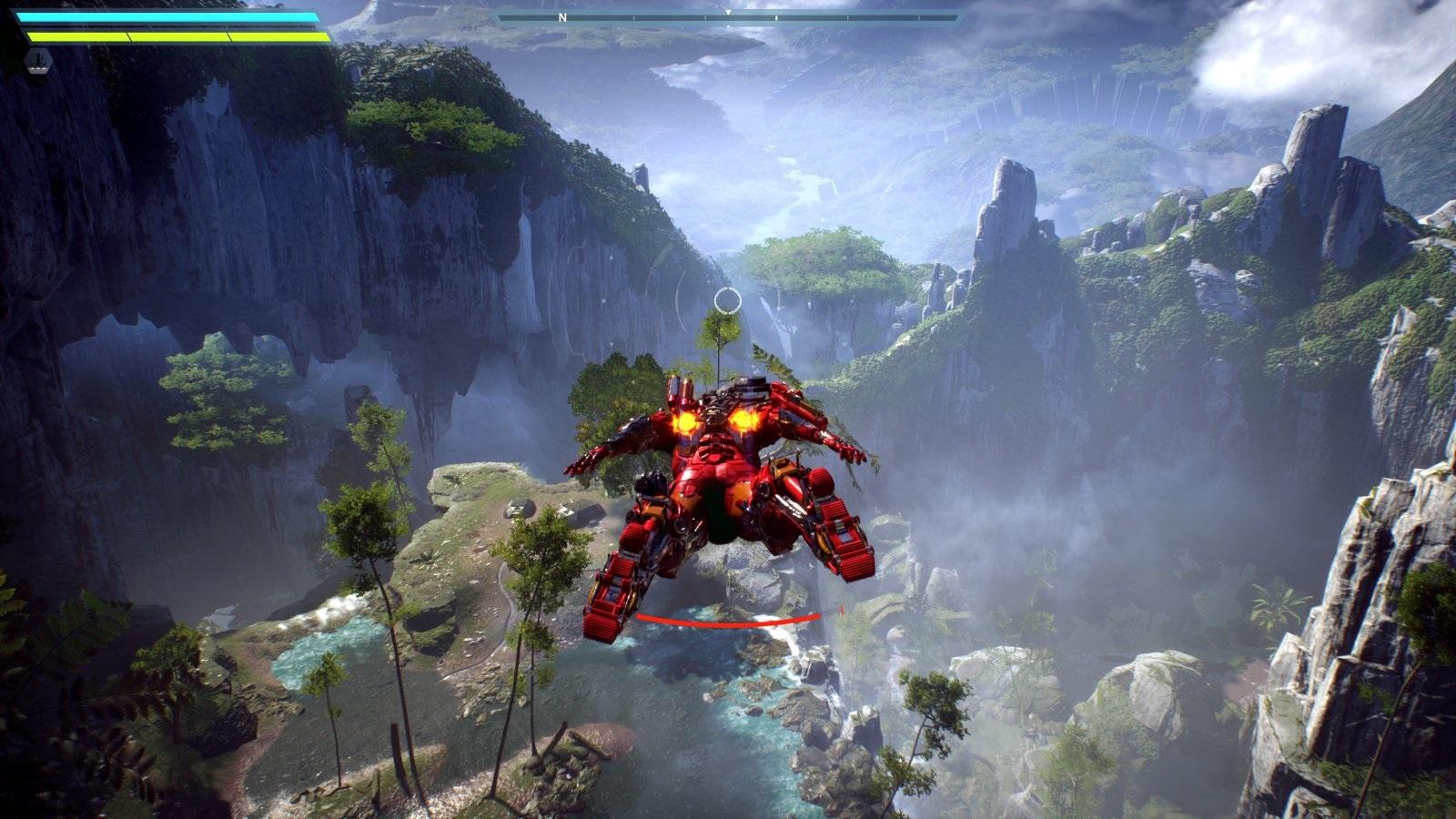 Anthem; gameplay: létání