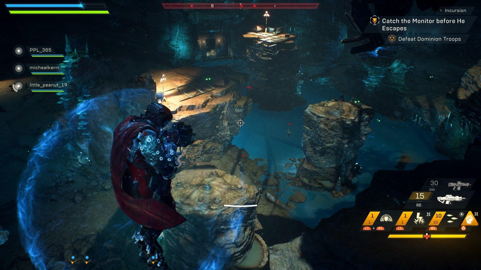 Anthem; gameplay: levitace