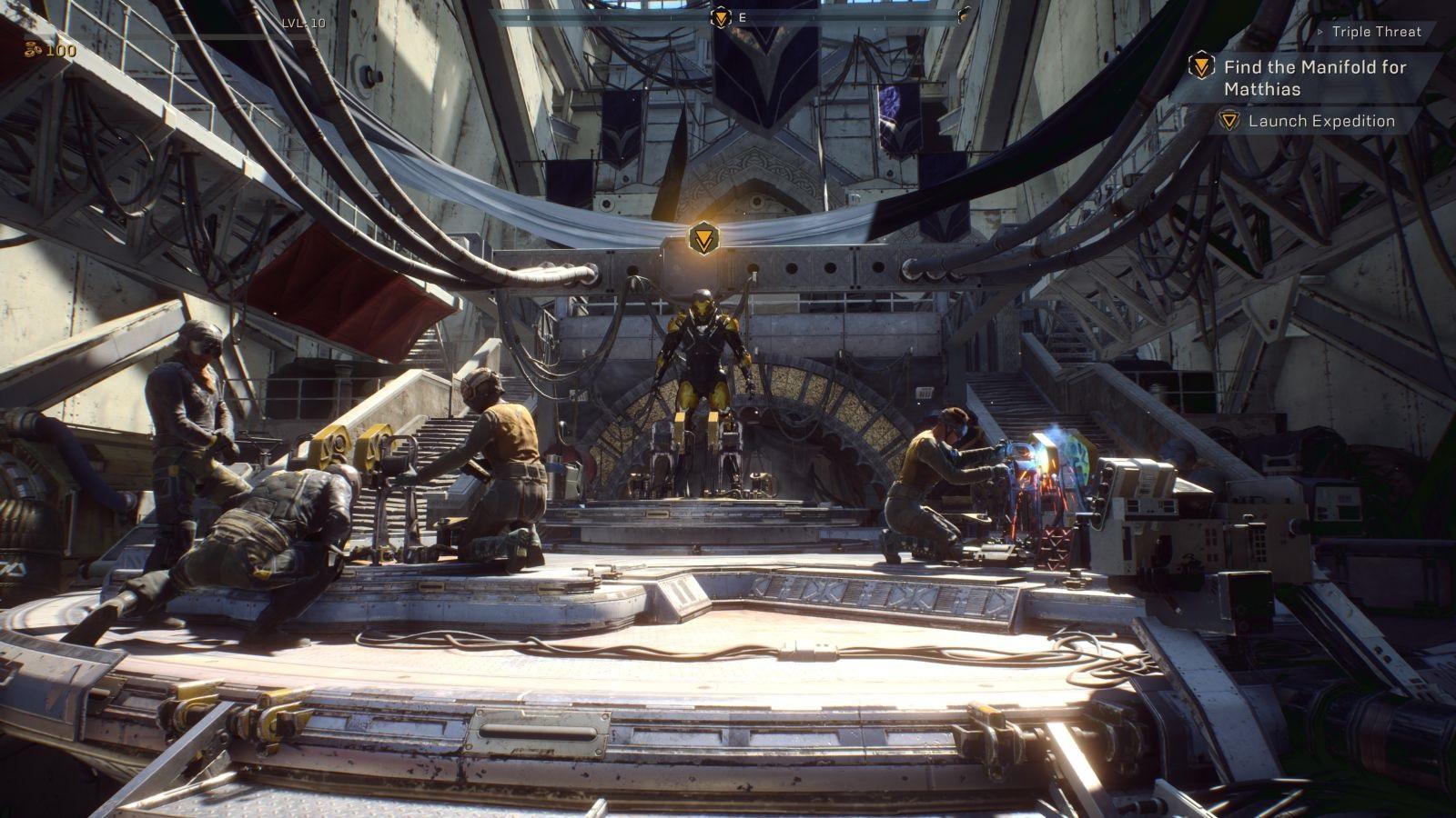 Anthem; gameplay: pevnost Tarsis