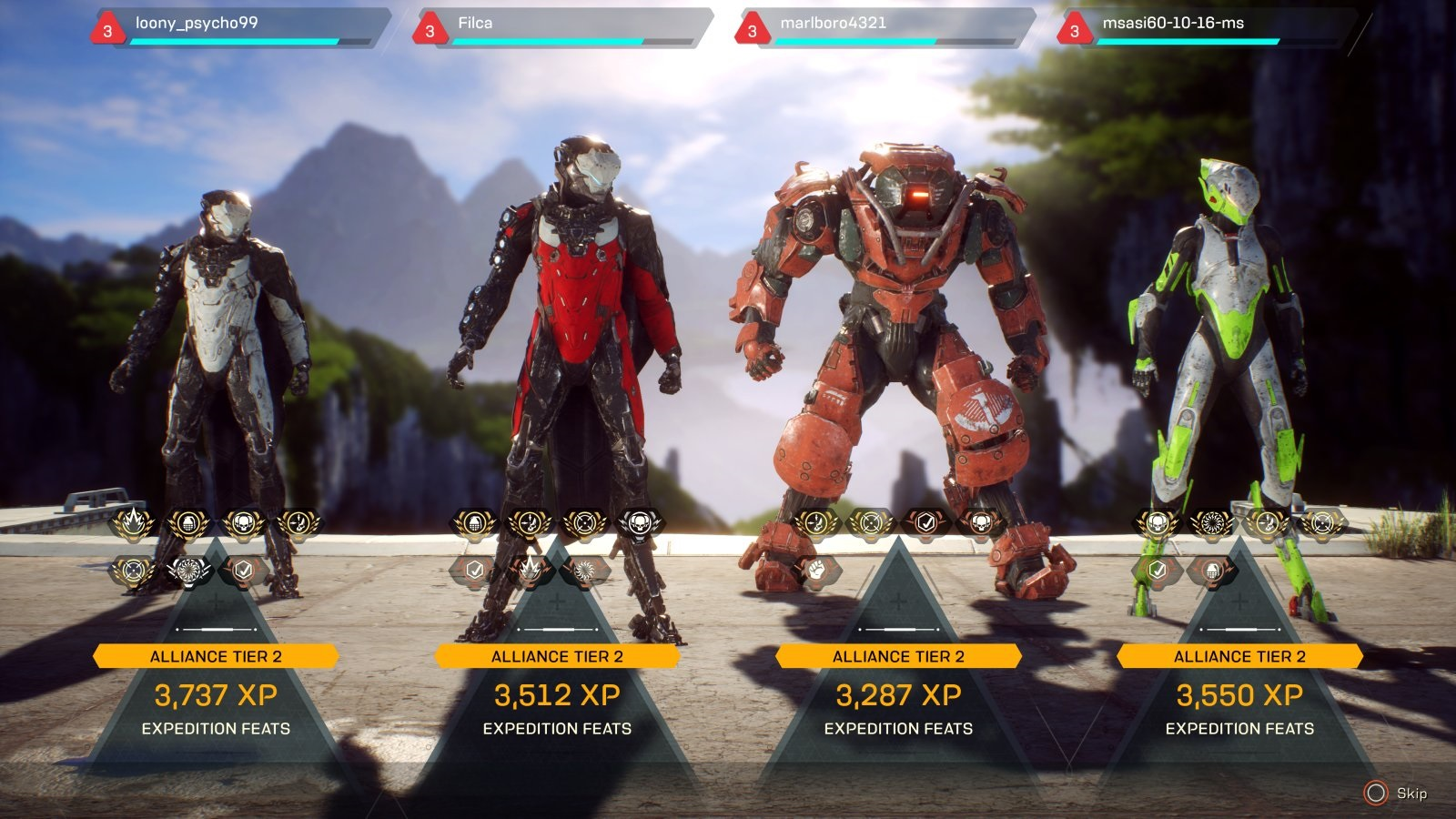Anthem; gameplay: scóre