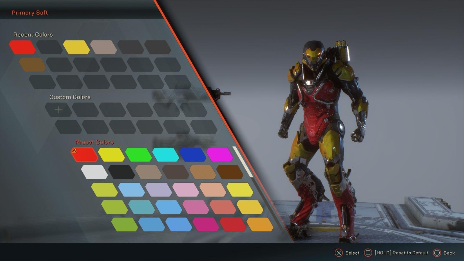 Anthem; gameplay: vzhled obleku