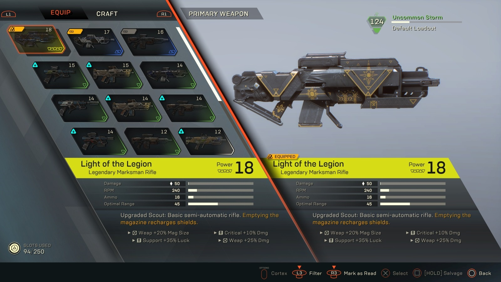 Anthem; gameplay: zbraně