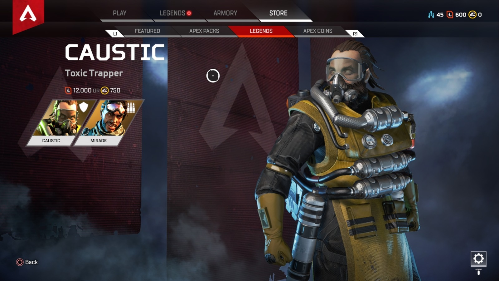 Apex Legends; gameplay: Caustic