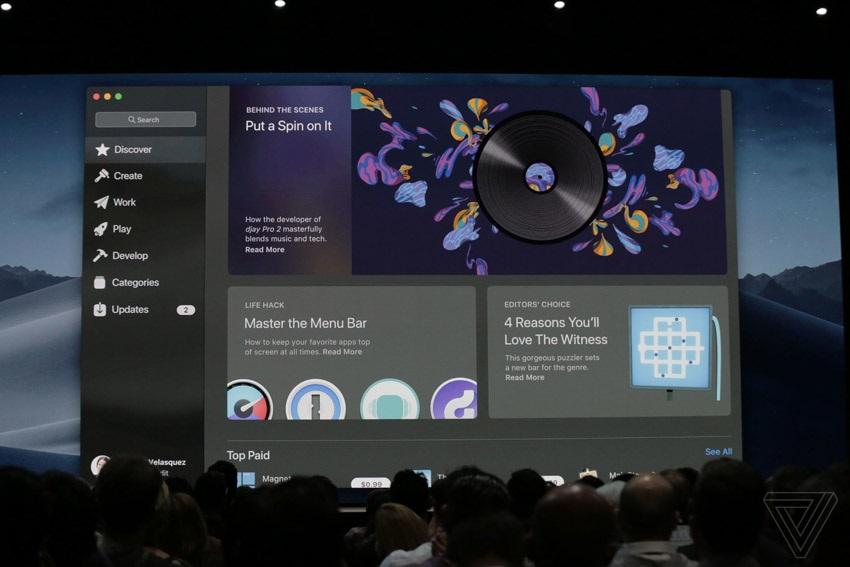 macOS Mojave, nový Apple App Store