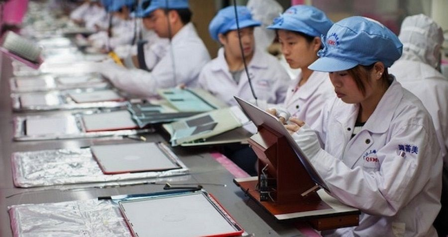 Výroba tabletů Apple na Tchaj-wanu