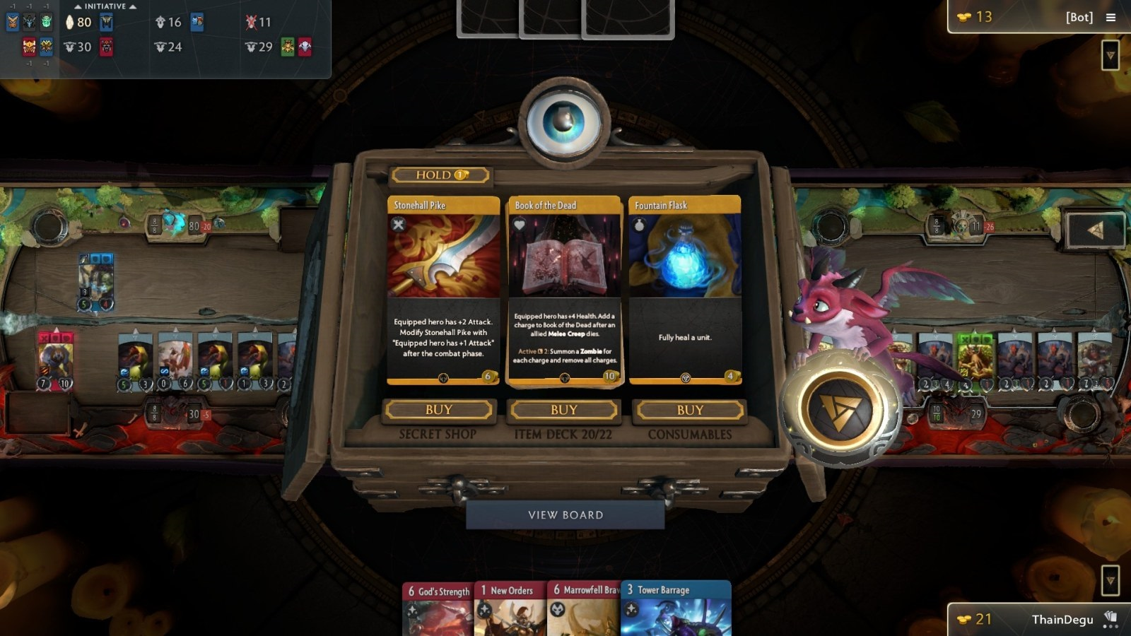 Artifact; gameplay: obchod