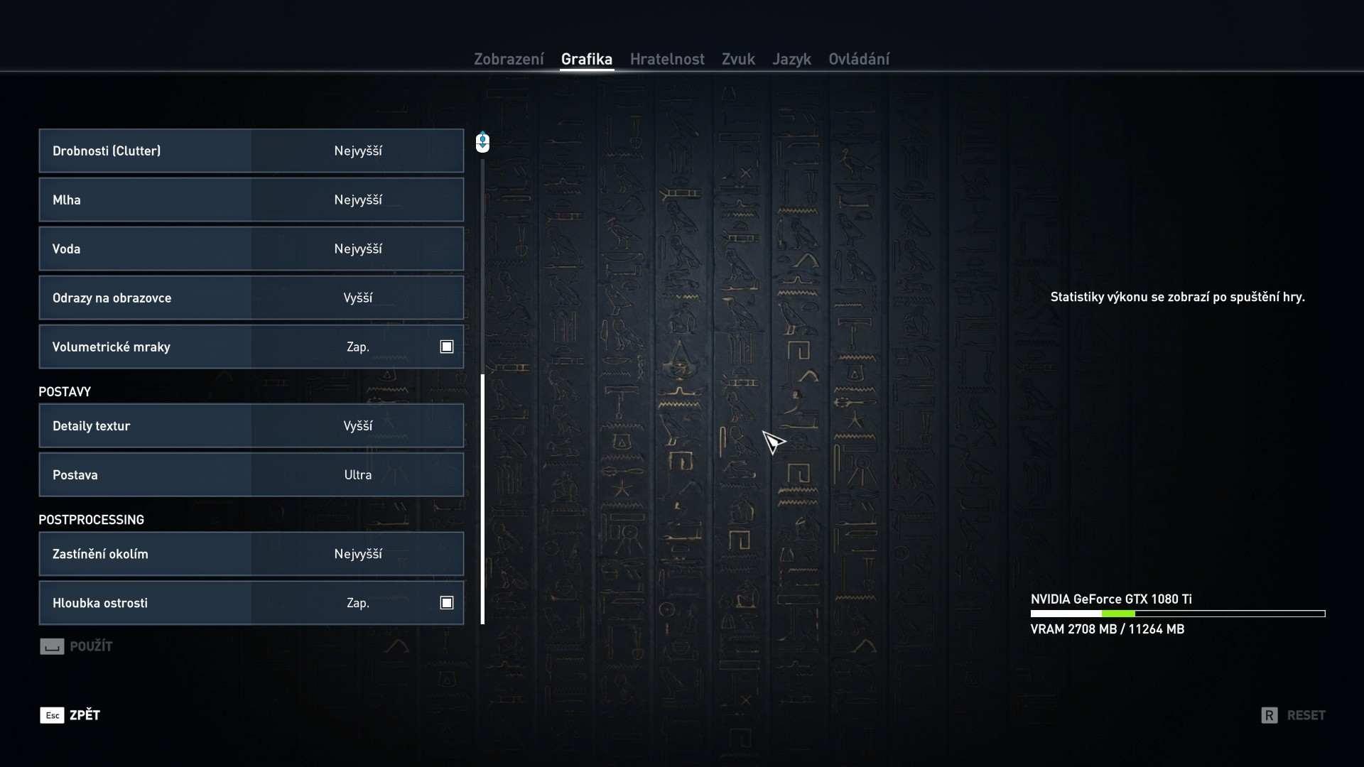 Assassin's Creed: Origins; nastavení videa