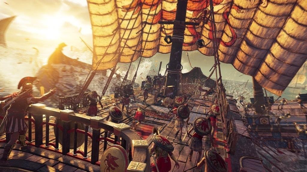Assassin´s Creed: Odyssey; screenshot: čelní náraz
