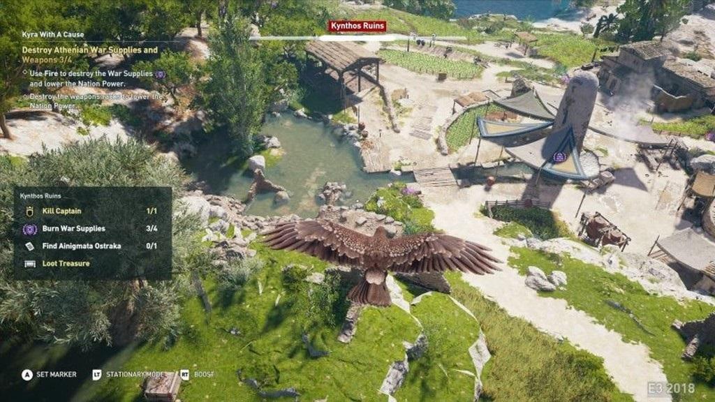 Assassin´s Creed: Odyssey; screenshot: eagle vission