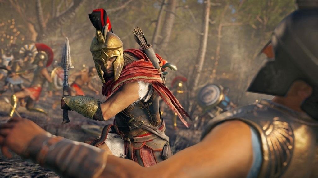 Nejočekávanější hry v říjnu 2018; Assassin's Creed Odyssey, screenshot: kopí