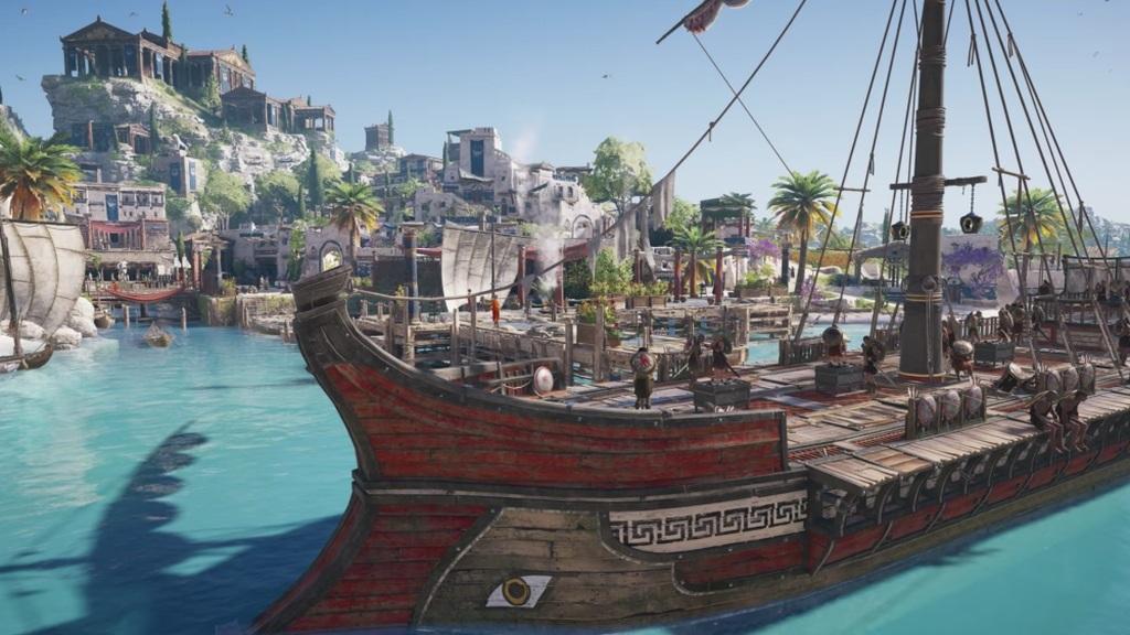 Assassin's Creed Odyssey; screenshot: loď
