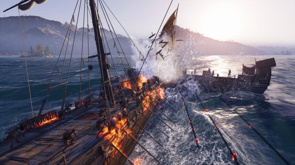 Assassin´s Creed Odyssey; gameplay: lodní souboje