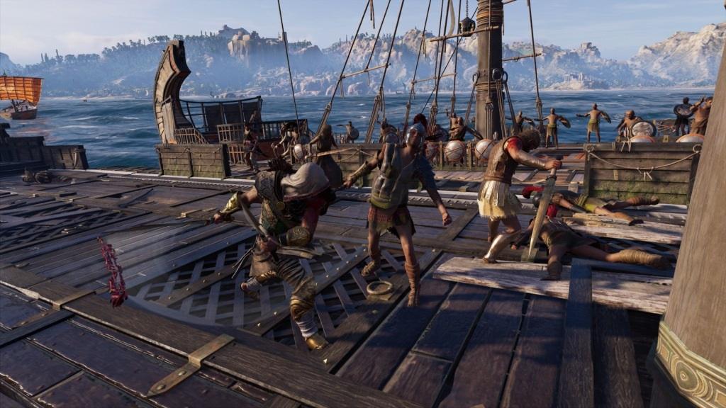 Assassin´s Creed Odyssey; gameplay: nalodění