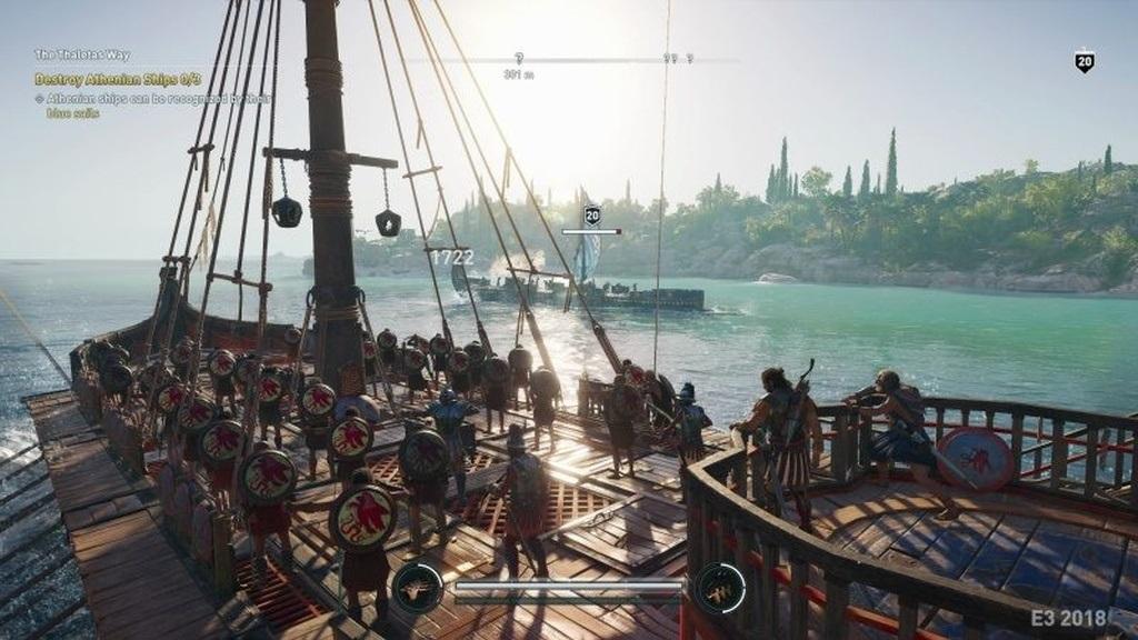 Assassin´s Creed: Odyssey; screenshot: námořní bitva