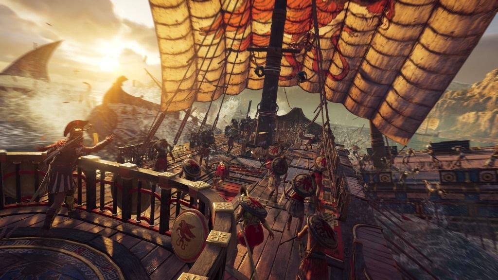 Assassin's Creed Odyssey; screenshot: námořní bitva