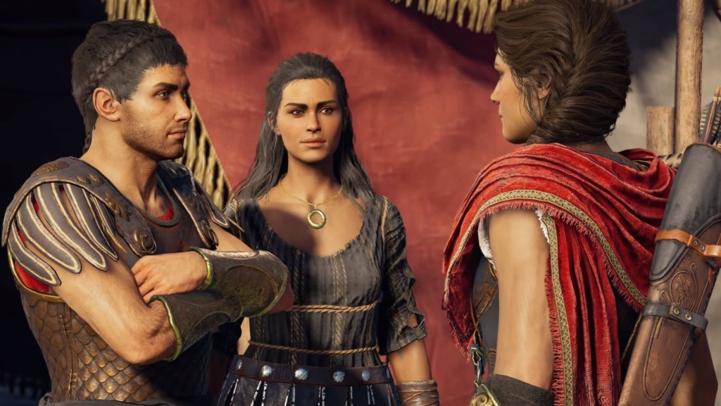 Assassin's Creed Odyssey; screenshot: postavy