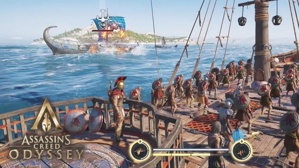 Assassin´s Creed: Odyssey; screenshot: souboj na moři
