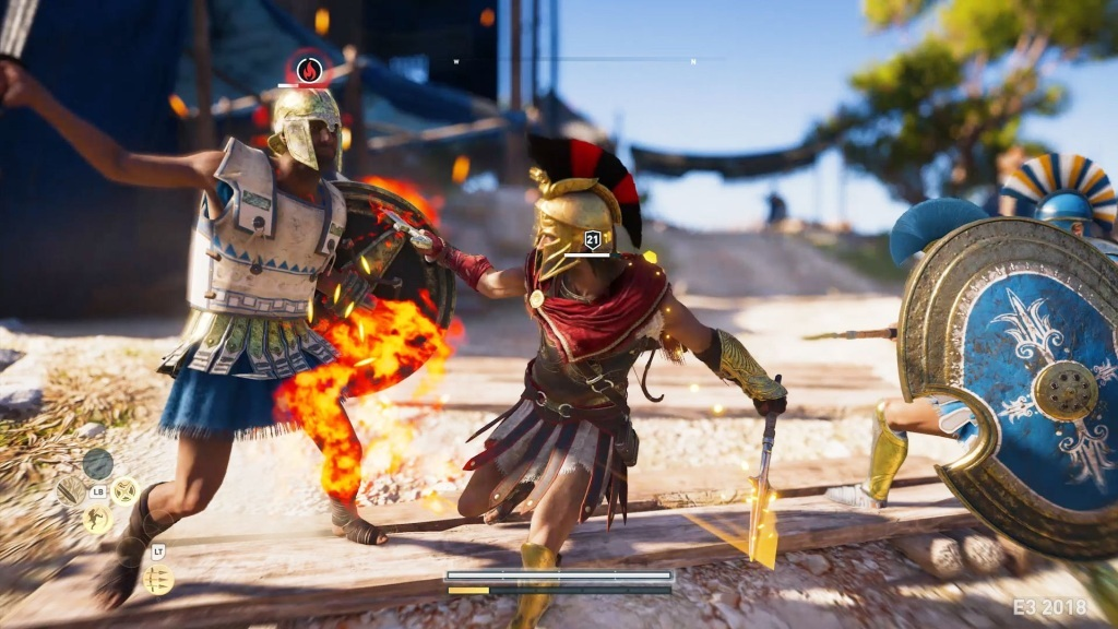 Assassin's Creed Odyssey; screenshot: souboj