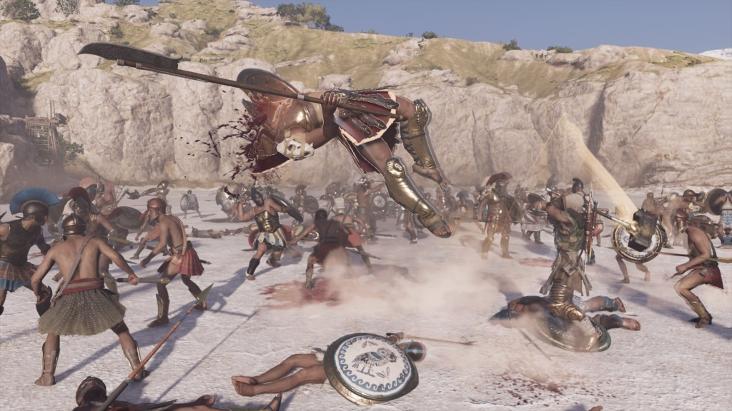 Assassin's Creed Odyssey; gameplay: souboje