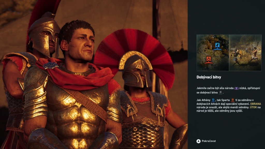 Assassin's Creed Odyssey; gameplay: Sparta/Athény