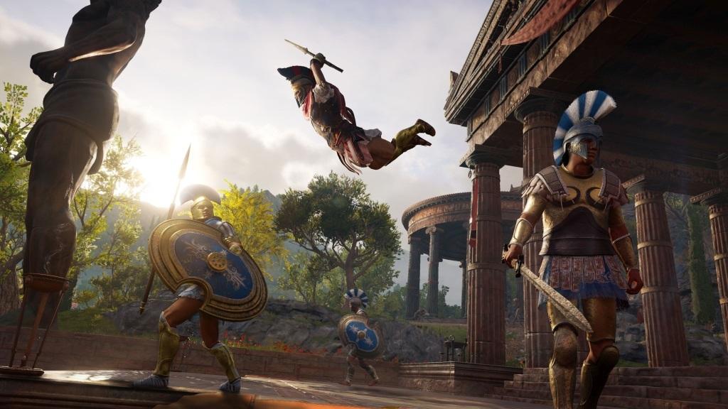 Assassin's Creed Odyssey; screenshot: zabití