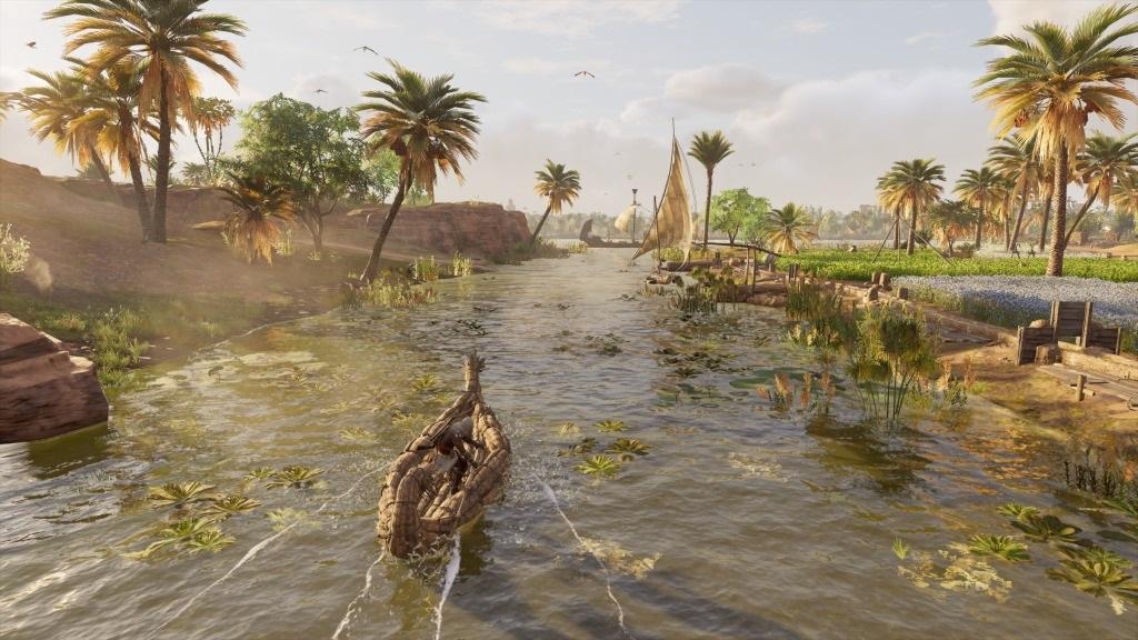 Assassins´s Creed: Origins; Gameplay: plavba kanálem