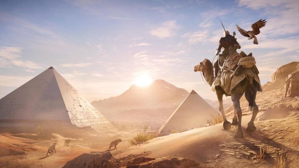 Assassins´s Creed: Origins; Wallpaper: Bayek, Egypt, pyramida
