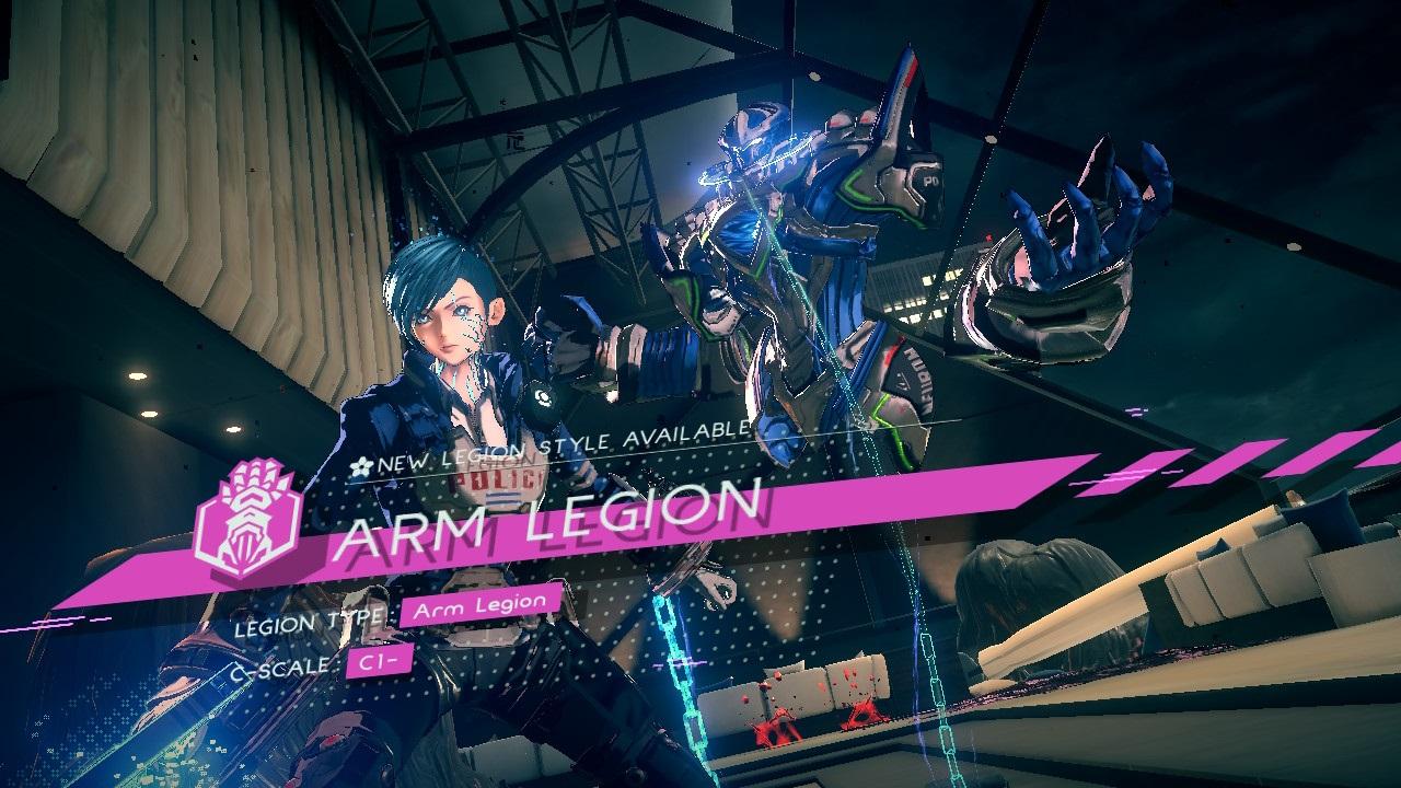 Astral Chain; screenshot: arm legion