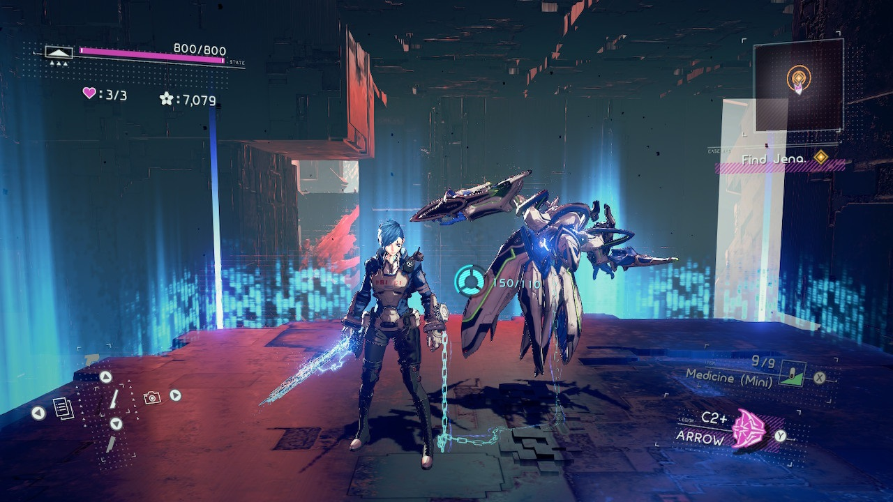 Astral Chain; screenshot: arrow legion