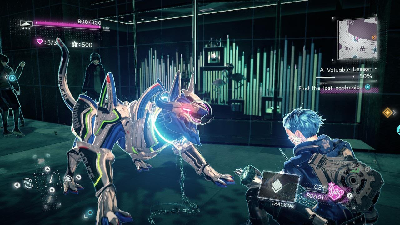 Astral Chain; screenshot: beast legion