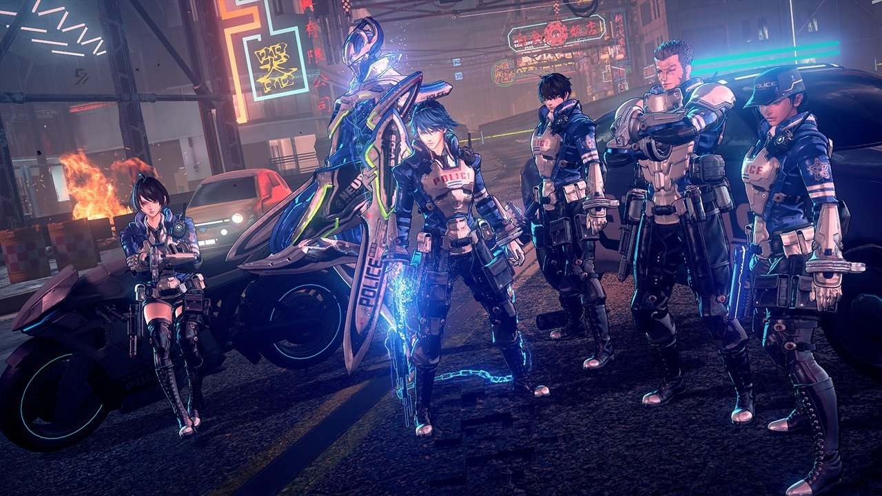 Astral Chain; screenshot: policie