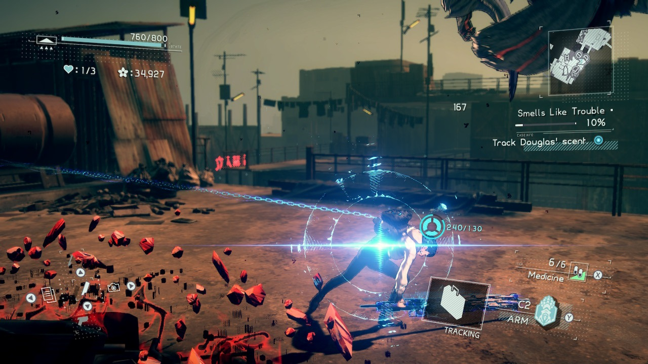 Astral Chain; screenshot: combo flash
