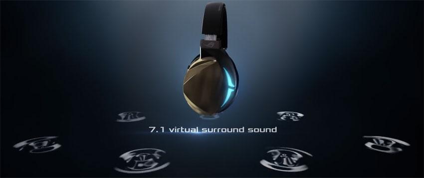 Asus ROG Strix Fusion 500; 7.1 surround sound