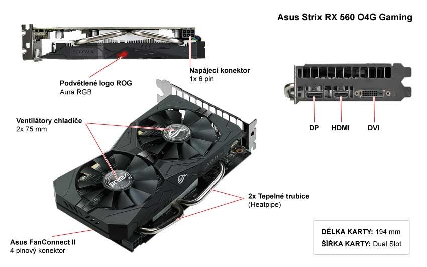 Asus Strix RX 560 O4G Gaming popis