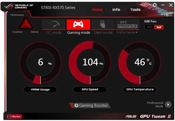 Asus Strix RX 570 O4G Gaming GPU Tweak II simple mode